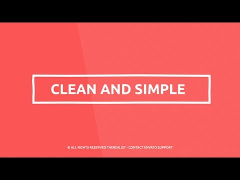 After Effects Template - Minimal Kinetic Typography - Quick Business ...