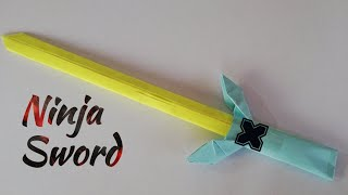 How To Make a Cool Paper Ninja Sword with A4 paper