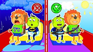 Lion Family ???? Wear your seatbelt. Safety Tips for Kids   Cartoon for Kids