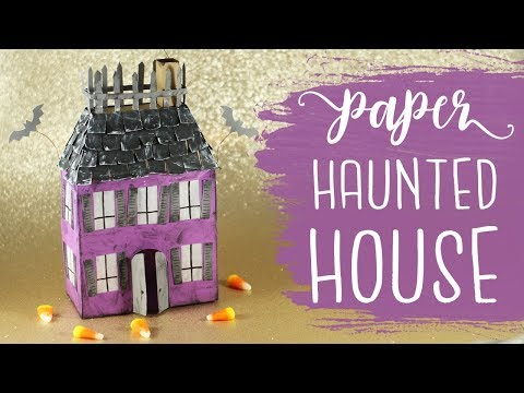 3D Paper Haunted House Tutorial 🎃 Halloween Crafts | BOOtorial