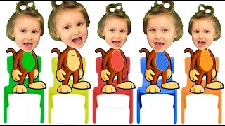 Five little monkeys | Kids Song and Nursery Rhymes | Bobosiki TV