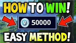 HOW TO WIN *50,000 V-BUCKS* FOR FREE! - Fortnite Solo Showdown! - HOW TO WIN SHOWDOWN FREE V-BUCKS!