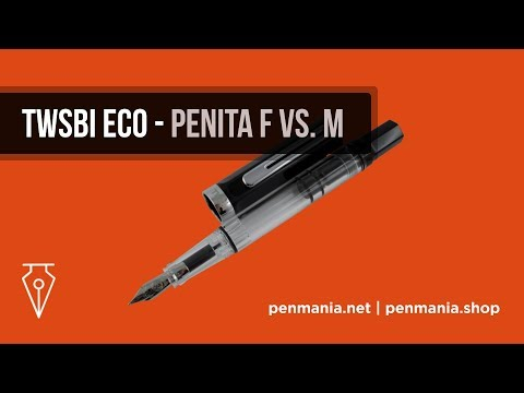 Stilou TWSBI ECO - Penita F vs. M