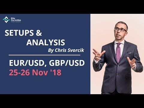 EUR/USD, GBP/USD Analysis & Setups 25 - 26 Nov '18