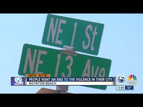 Boynton Beach residents want an end to the violence in their city