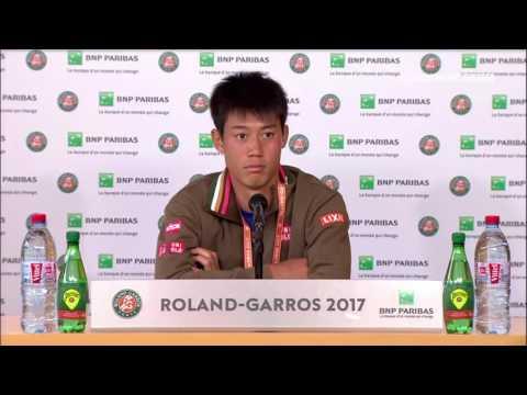 Kei Nishikori Press Conference RG17 - 5th of June