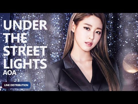 AOA - Under The Streetlights (가로등 불 아래서) (Line Distribution) | TheSeverus (D-6 BINGLE BANGLE)