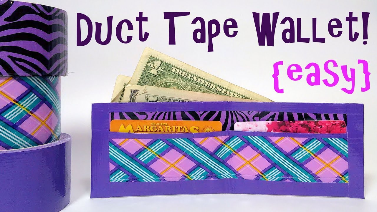 Easy Duct Tape Wallet Tutorial Youtube