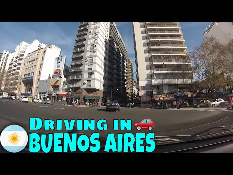 Driving in Buenos Aires (from Florida to Palermo)