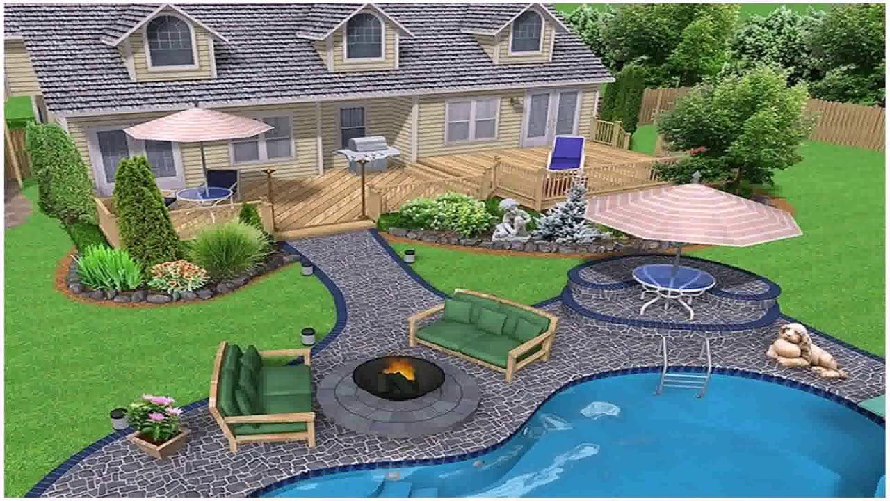 landscape design ideas for sloped backyard youtube