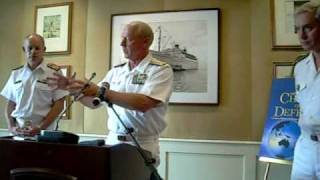 Head of the Pacific Command Admiral Robert Willard speaks at the 2009 PACOM Press Conference