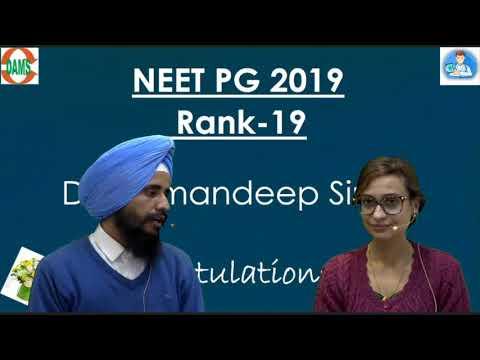 Meet #NEETPG Topper Dr. Ramandeep Singh Rank-19 #damsrocks