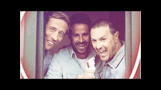 Jamie Redknapp forms BOYBAND with Peter Crouch and Paddy McGuinness
