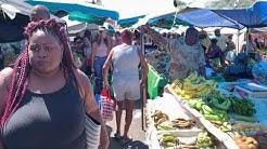 French Guiana Cayenne Market / France Guyane française Cayenne Marché de Cayenne Vue subjective