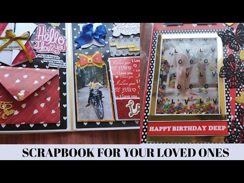 birthday-scrapbook-for-loved-ones-|-gift-idea-|-diy-|-display