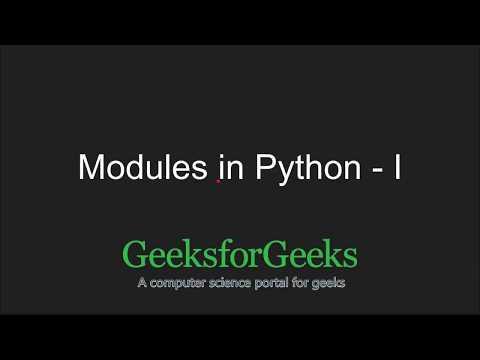 Python Programming Tutorial   Python Modules - Part 1   GeeksforGeeks