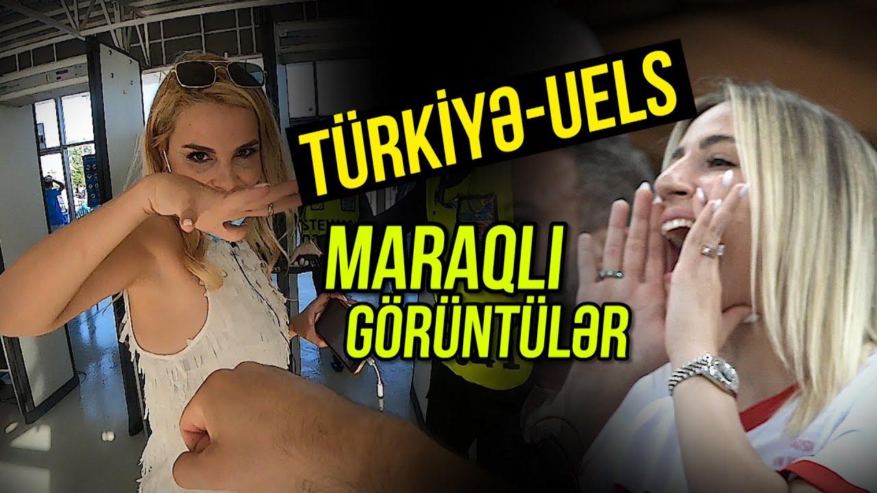 Türkiyə - Uels matçından maraqlı görüntülər / Azərkeşlərin futbol həyəcanı