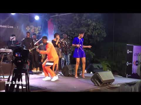Mzvee Wild Performance at OK Stripped Concert By Okyeame Kwame