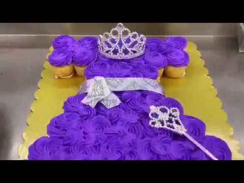 En Cupcake De PrincesaPrincess Forma Cupcakes Vestido Cake 9Ib2WEHYeD
