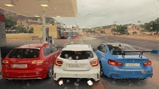 Forza Horizon 3 Online - AUDI RS3 VS BMW M4 VS MERCEDES A45 AMG - GoPro ‹ ZoiooGamer ›