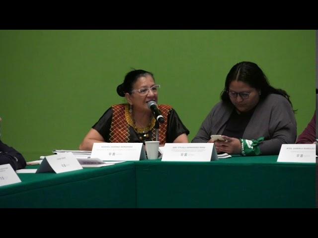 Discurso de  Presidenta de CDHCDMX, Nashieli Ramírez, Diálogo Cero impunidad y Justicia