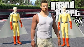 Grand Theft Auto V - Cristiano Ronaldo One Punch Man (CR7, Saitama Apprentice GTA 5 Mods)