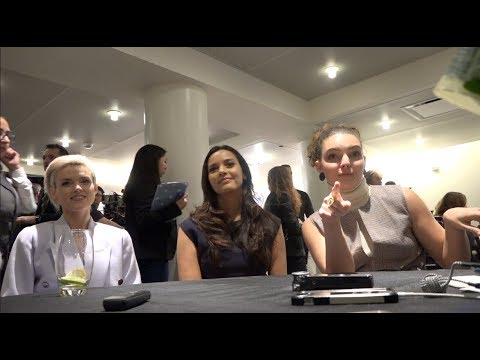(CWTV) INTERVIEW from Gotham #DCinDC2018 | Erin Richards, Jessica Lucas, & Camren Bicondova