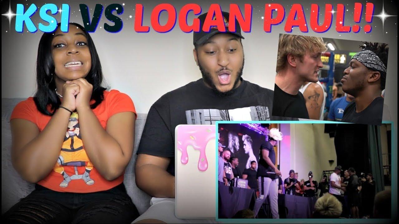 KSI VS LOGAN PAUL UK PRESS CONFERENCE HIGHLIGHTS REACTION!!!