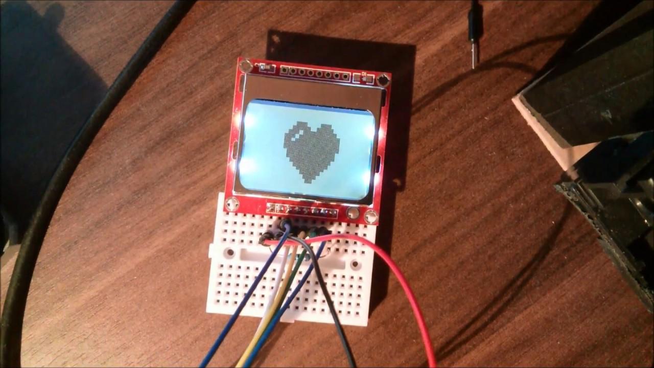 Nokia 5110 lcd module monochrome display screen 84 x 48 for arduino - Nokia 5110 3310 Monochrome Lcd With Arduino