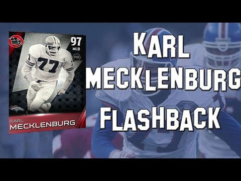 Madden 15 Ultimate Team- MUT 15 Card Review- 97 Overall Flashback Karl Mecklenburg