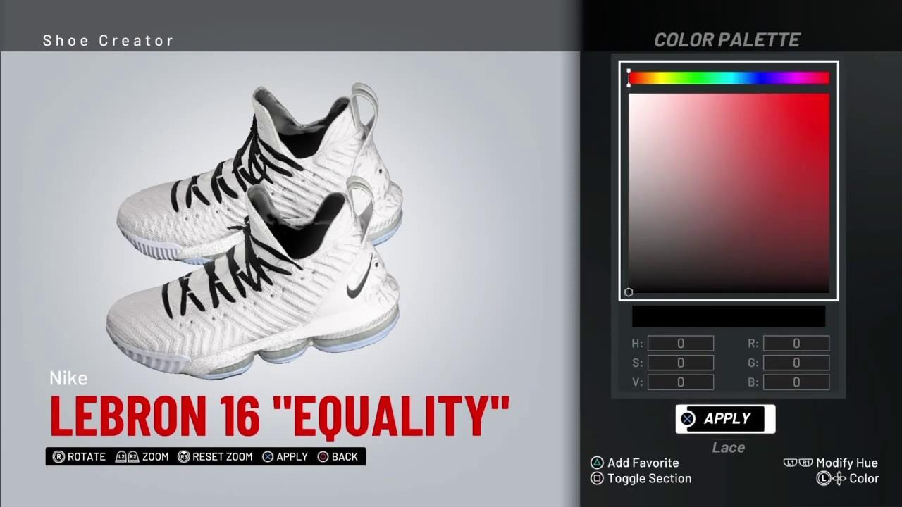 1bf5c2fdcb1 NBA 2K19 Shoe creator   NBA2K19  LEBRON 16