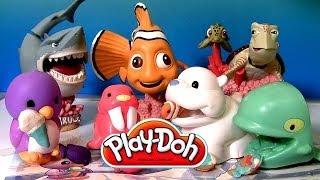 Play Doh Arctic Stampers Sea Animals set Fundamentals 2014 Finding Nemo Disneyplaydough Pixar