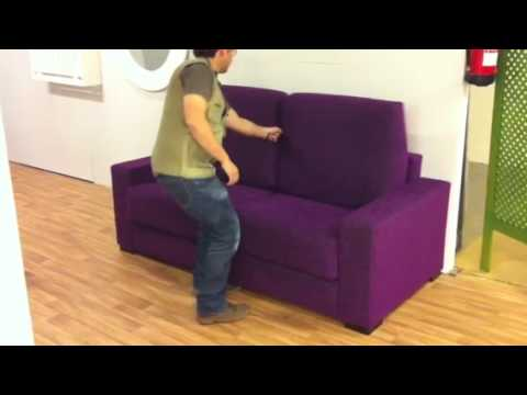 Video sofa cama apertura italiana youtube for Liquidacion sofas cama