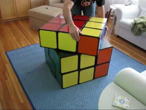 giant rubik 39 s cube youtube. Black Bedroom Furniture Sets. Home Design Ideas