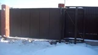 Алюминиевые откатные ворота ALUTECH ADS400. г Киев. Где купить ворота Алютех?(В этом видео показаны откатные алюминиевые ворота ALUTECH. Компания
