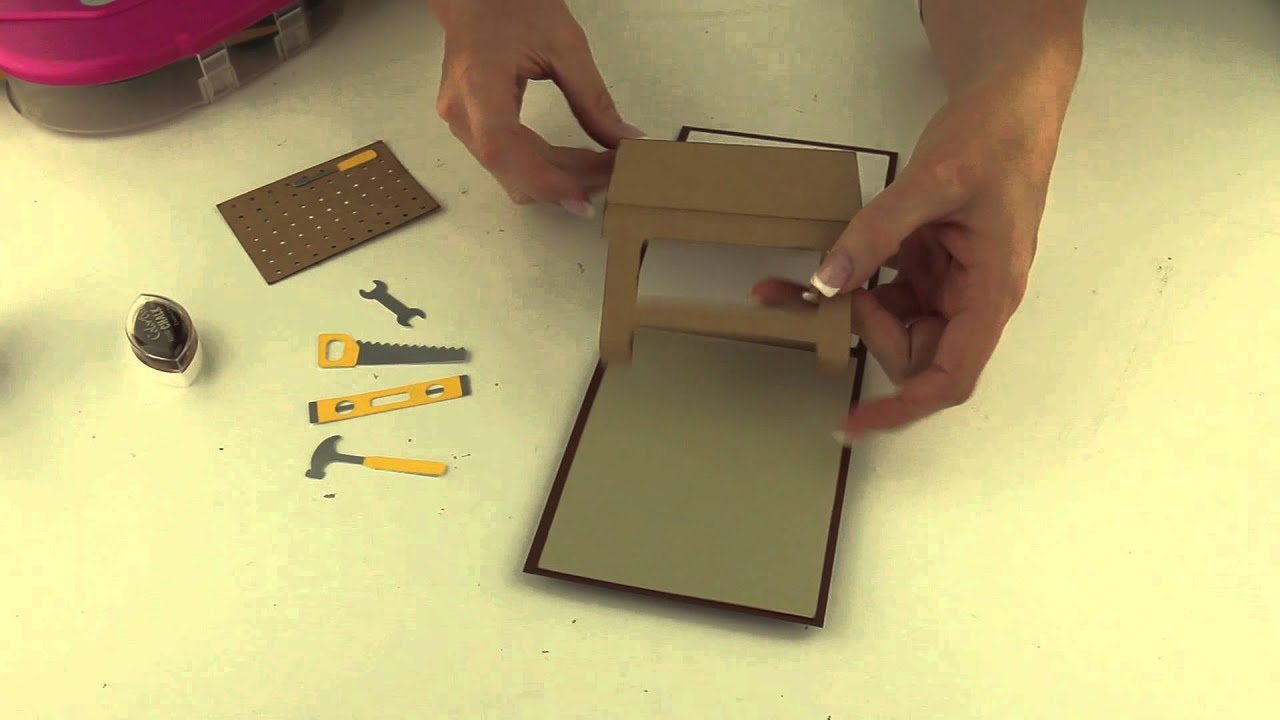 Work Bench Pop Up Card Youtube