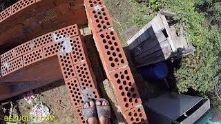 #Строительство дома. Коробка готова. Обзор косяков и начало карьеры каменщика.