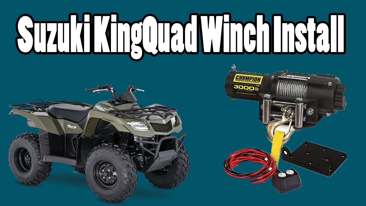winch install suzuki kingquad 400 youtube suzuki king quad 500 winch wiring suzuki king quad winch wiring [ 1280 x 720 Pixel ]