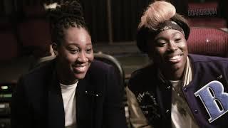 WNBA champion, artist, & music exec Essence Carson with Tina Charles
