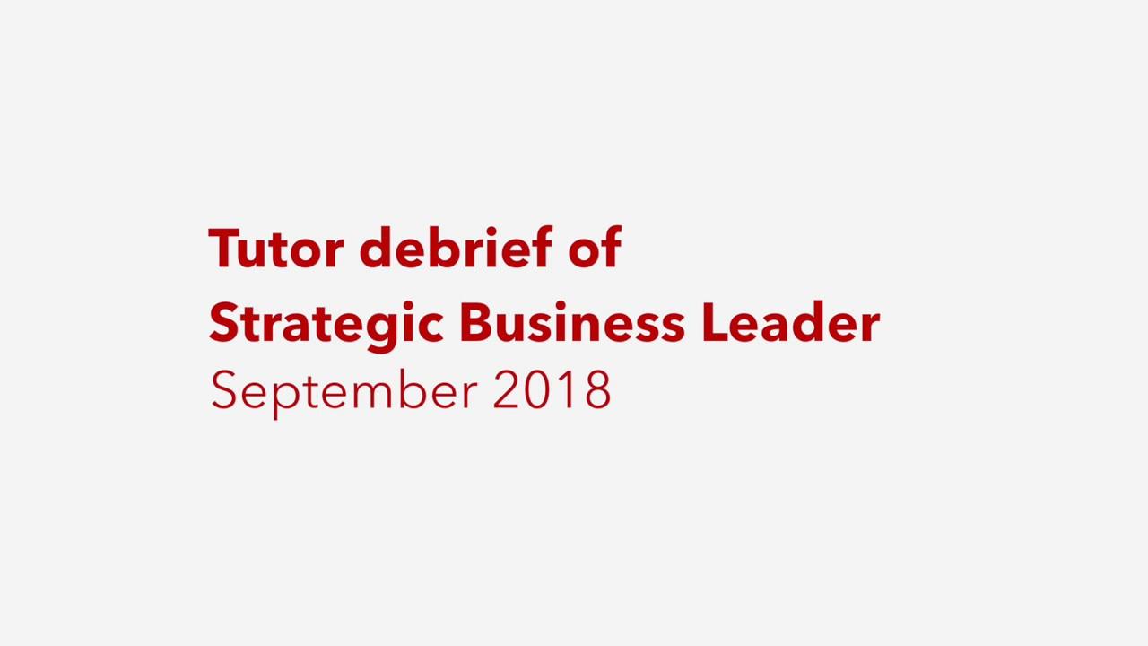 SBL September 2018 debrief: question 1