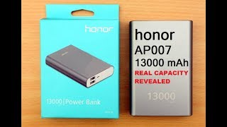 Honor AP007 13000 mAh Power Bank Review And Real Capacity Check
