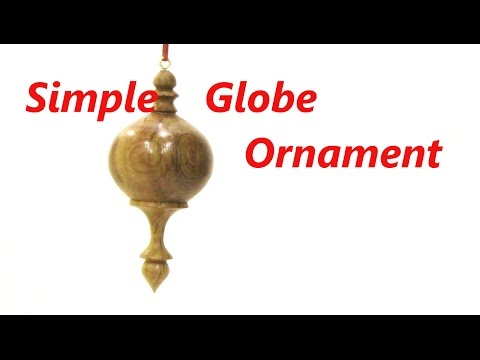 How to Turn a Simple Globe Ornament