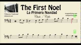 La Primera Navidad Partitura de Chelo The First Noel