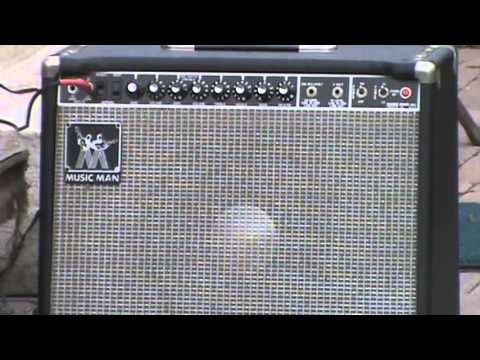 Music Man rd112 100 quick demo @ 100 watts - loaded with a JBL D120f AlNiCo speaker