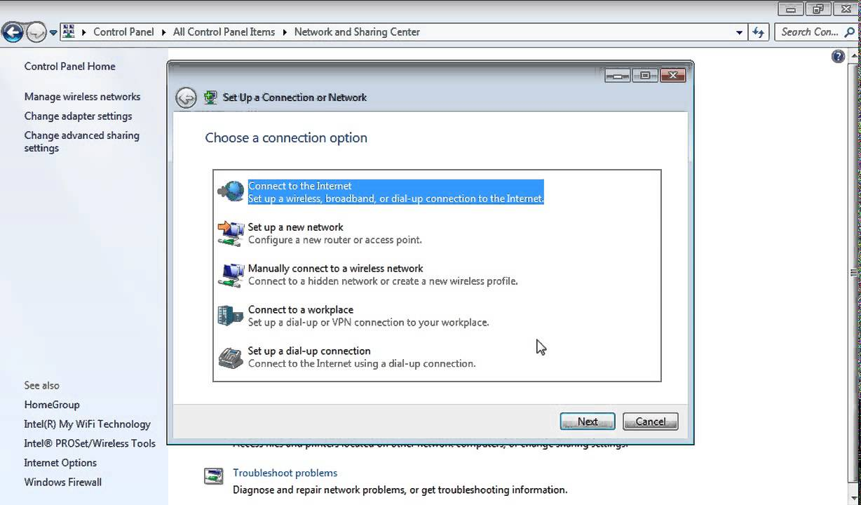 a place to call home setting dial up internet connection setup in windows 7 How to set up a new connection or network