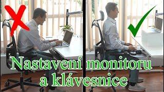 3. Nastavení monitoru a klávesnice
