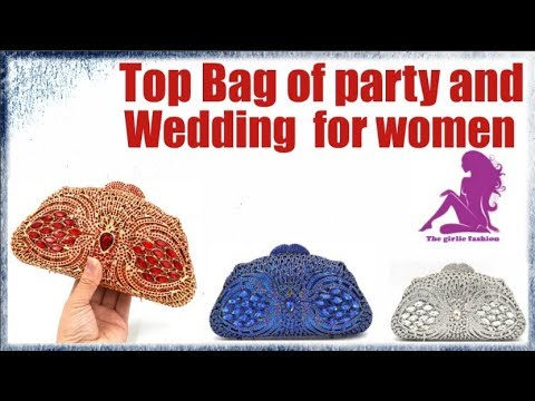 Luxury clutch party and wedding bag for women