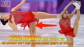 Mirai Nagasu Made History, but the Internet Can't Stop Talking About What's on Her Leg