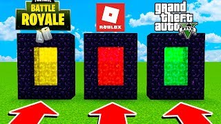 DO NOT CHOOSE THE EQUIPPED DIMENSION IN MINECRAFT! 😱😂 FORTNITE GTA 5 and ROBLOX