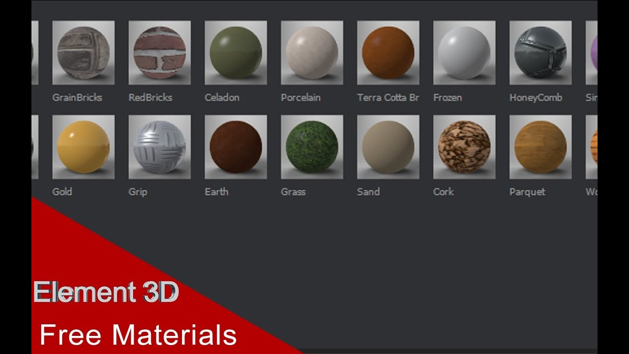 Free element 3d materials youtube for Waste material video
